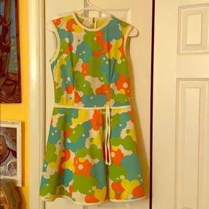 Retro floral spring dress